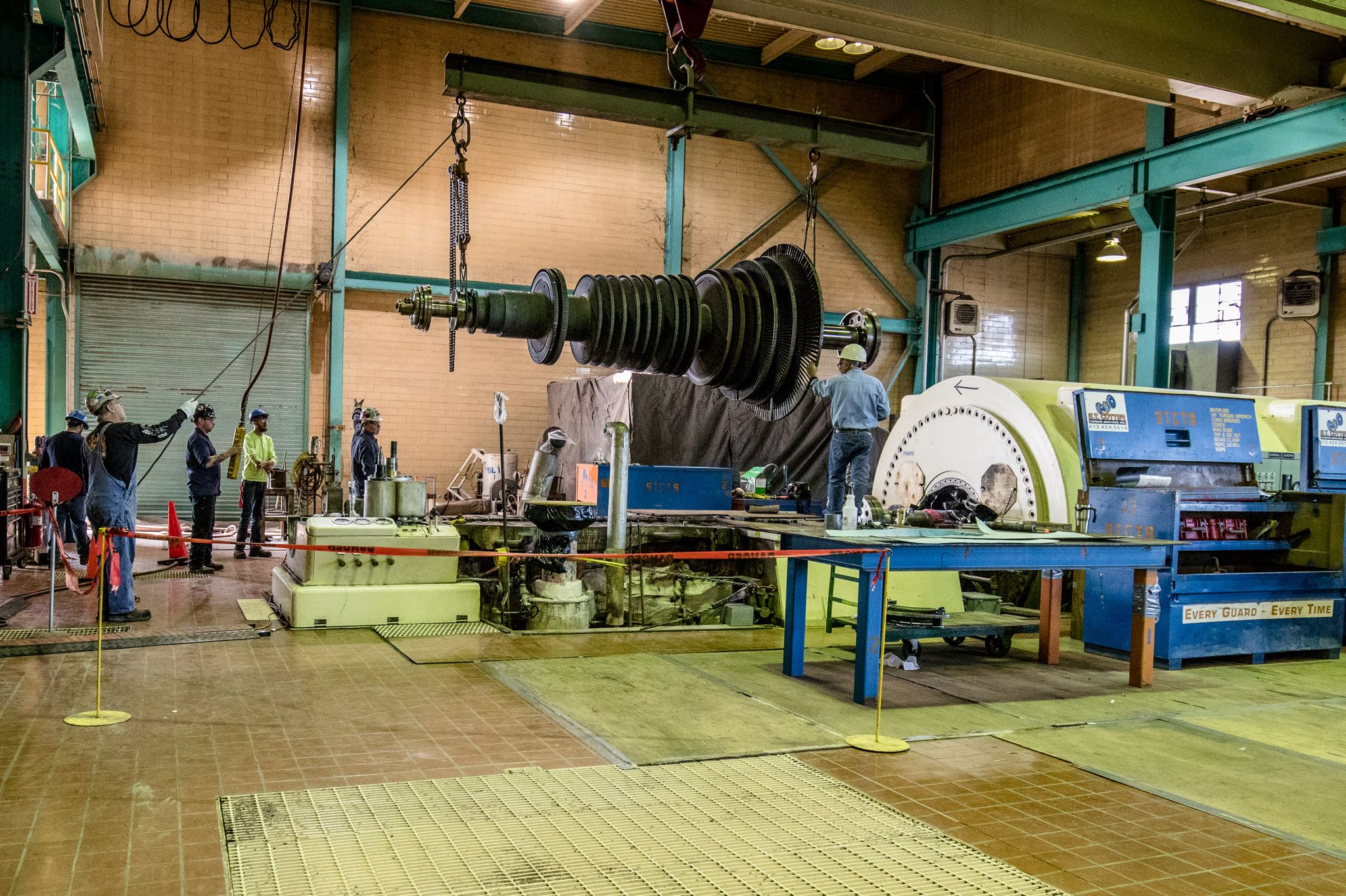 Electric Utility Turbine #7 Rotor Inspection